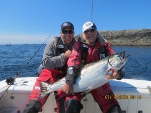 57lbs chinook west coast fishing club
