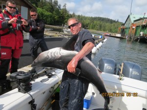 salmon shark for release