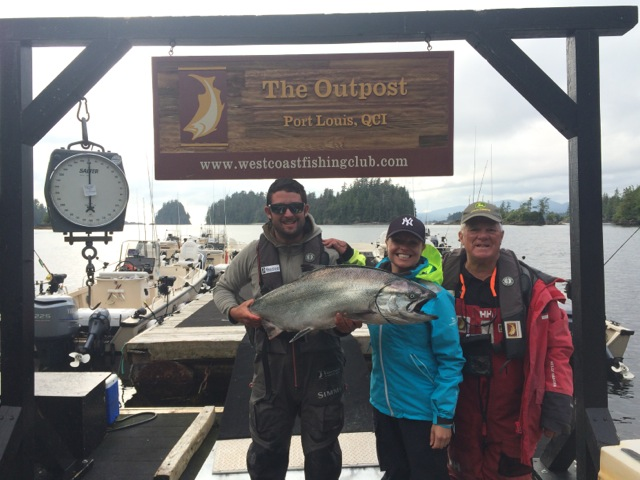 Scale shot of Amy and her dad Rod with Robby. Oh..and a 31 lbs