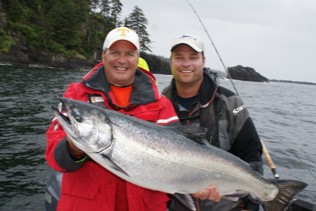 Brian Wright with his prized Tyee!