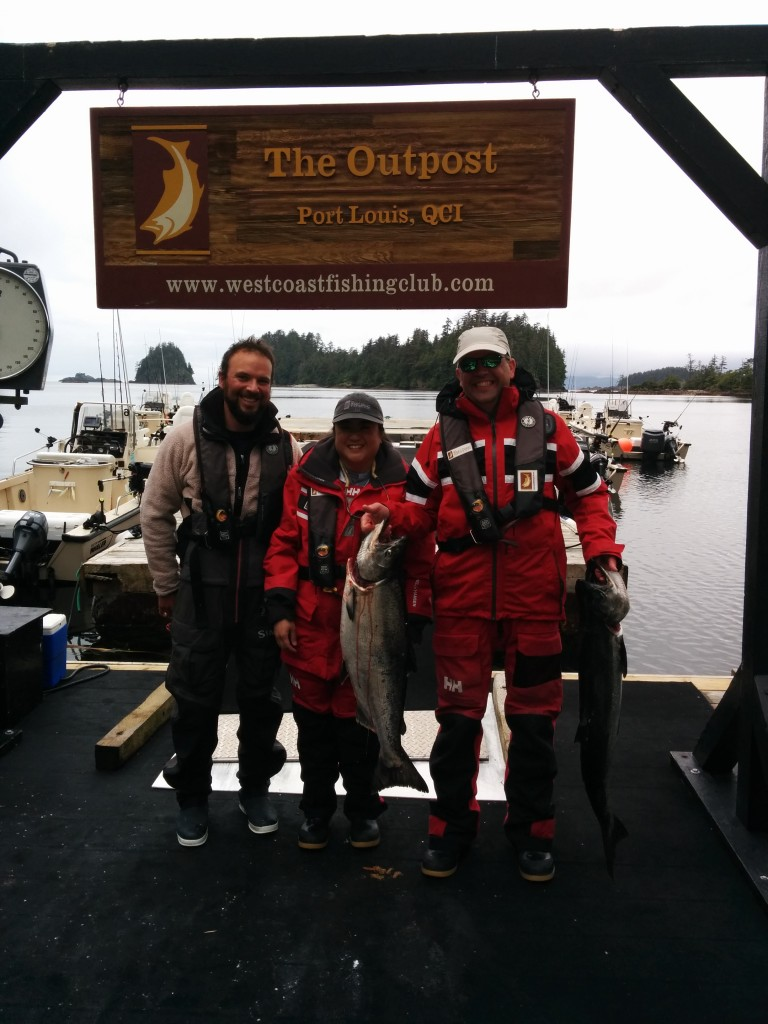 Rosie and Graham Baker with guide Sam, posing here with some fine eaters!