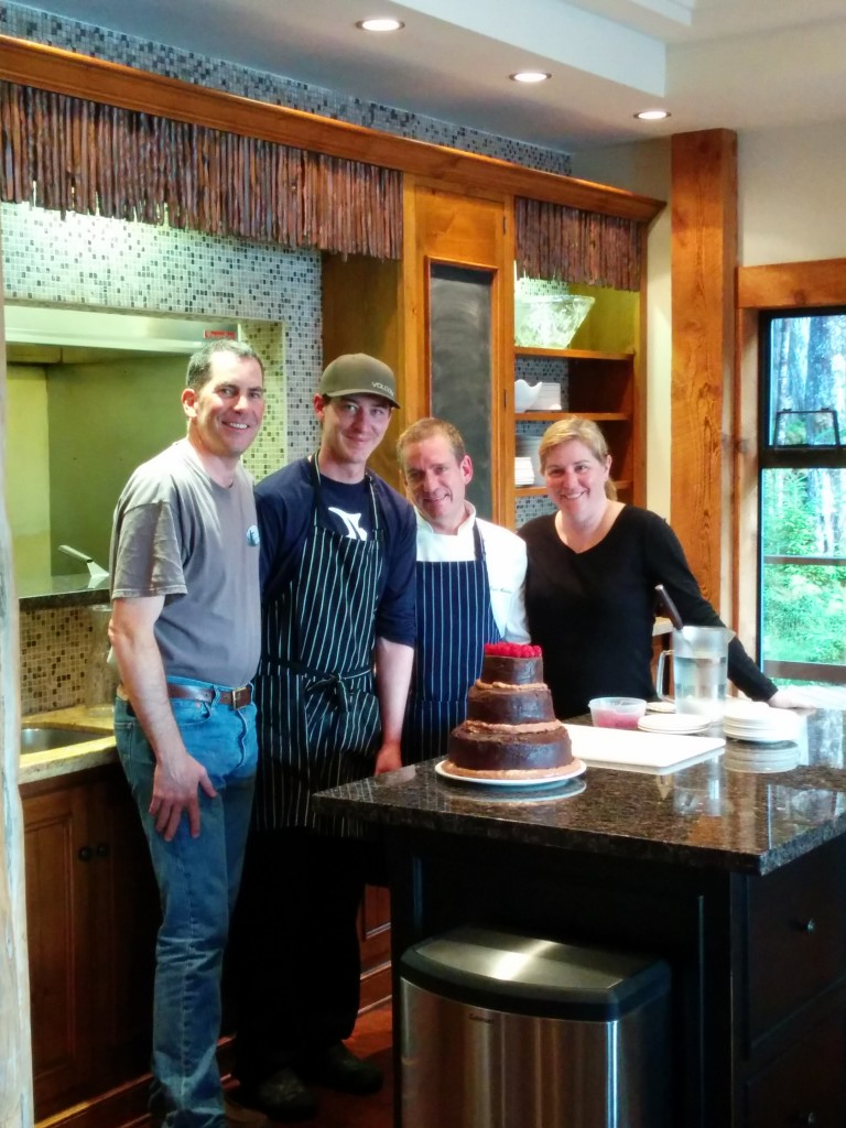 David and Brian, our amazing chefs, made sure we could celebrate Clin's and Dawn's 20th Anniversary in grand fashion!
