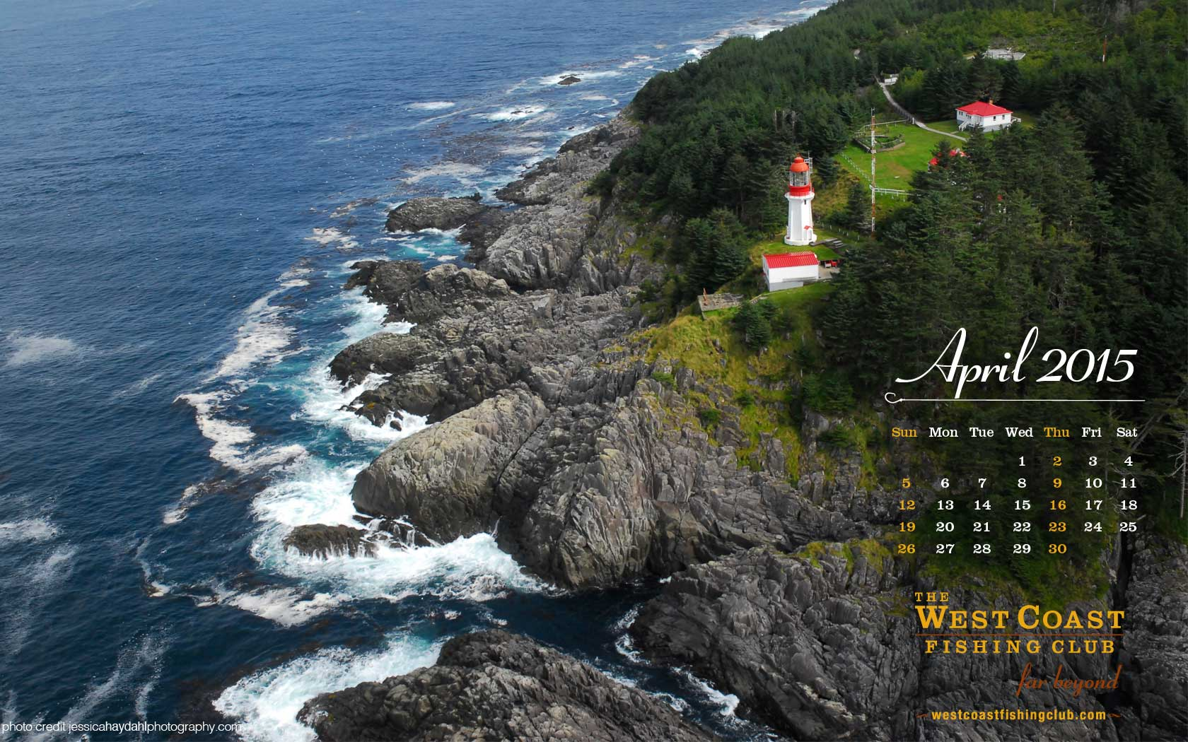 Pin download this months desktop calendar on pinterest for West coast fishing club