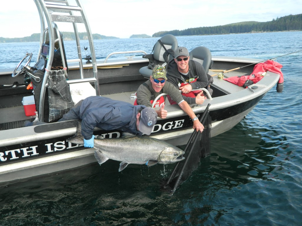 * Mike Murphy and a 55lb tyee.
