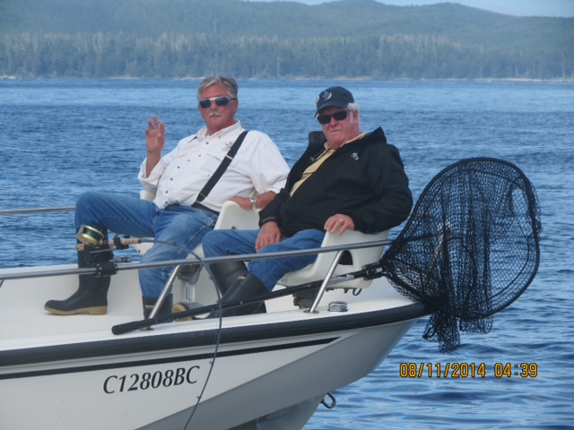 * John Fader and George Ledson enjoying a beautiful Langara day!