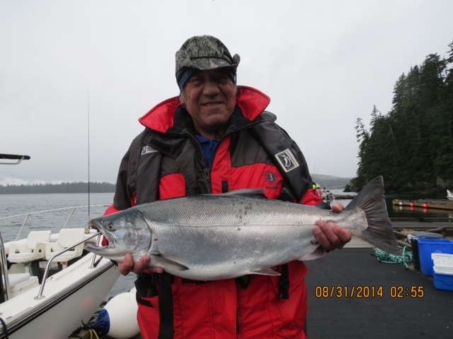 * Loren from Alaska with his 18lb Coho.