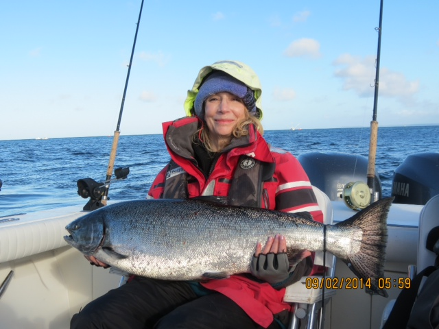 * 27lb September Chinook for Sheryl.