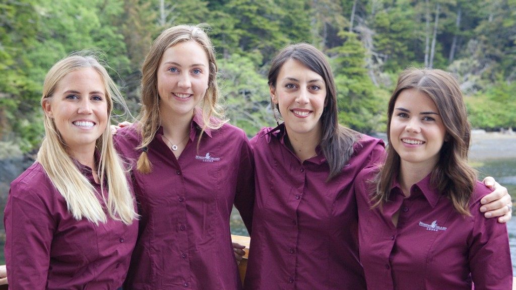 * A few of the North Island Lodge staff eager to get the season underway.