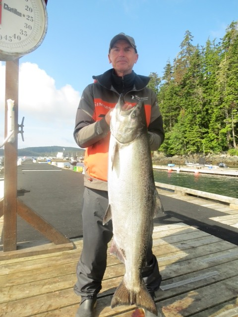 * Mike Throne with a 30lb Tyee.