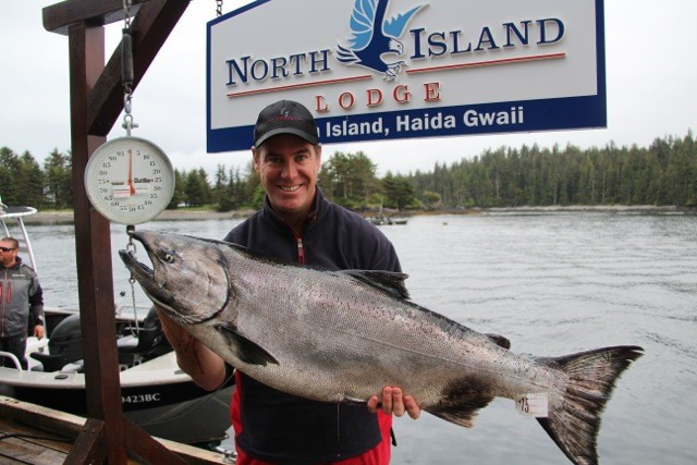 Pat Parent with a beautiful 42 pound Chinook