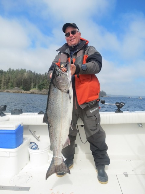 * Richard Fankhanel with a 28lb Chinook.