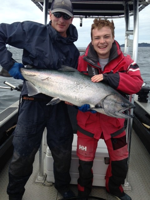 * 42lb Tyee for Nicolas Simon Jr. and guide Brent Gallacher.