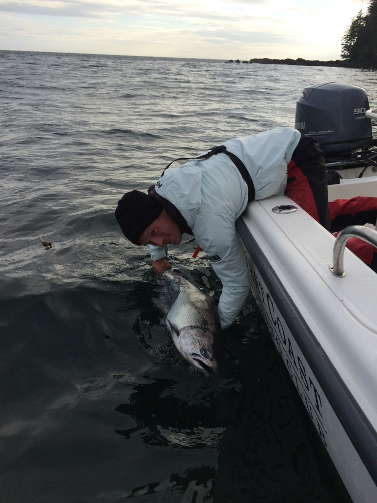 * Chris Dale released Bob Wallis' 34.12 pound winning fish.