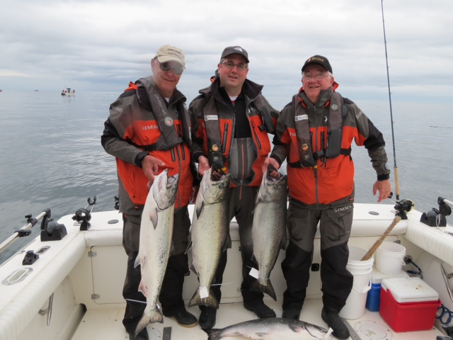 * Brent Jones, Dick Jones and DC Morse with some late afternoon success off McPherson!