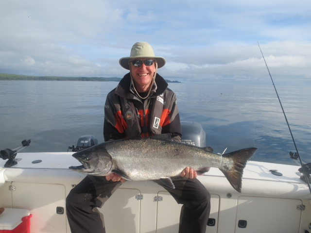 Chris Waggett with a 29 pound Chinook.
