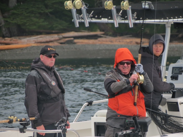 * Gary Hayden and Duane Schneider fighting a good fish.