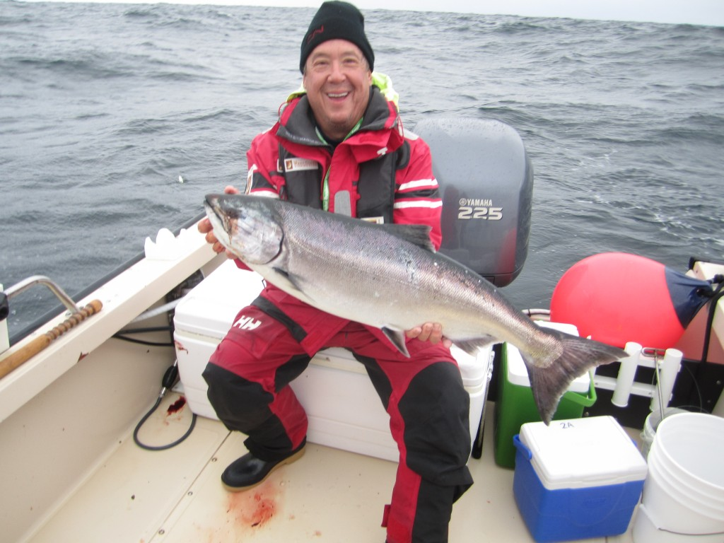 * Bob Stan down at The Outpost with his 30lb Tyee.