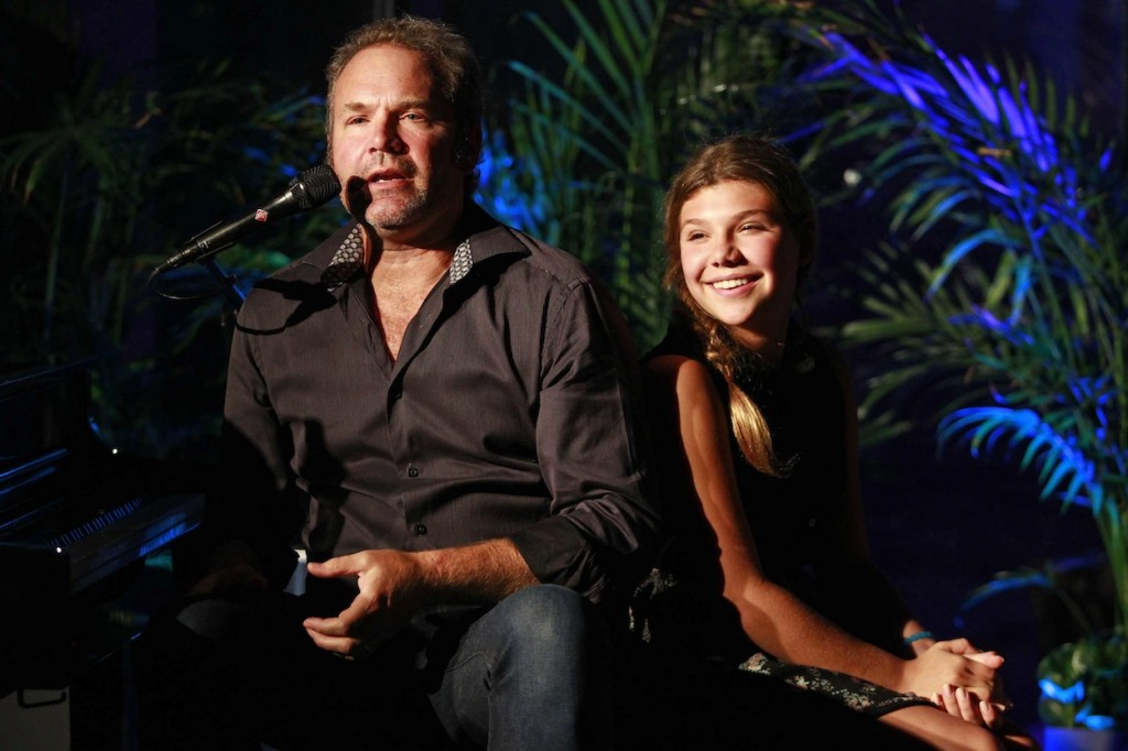 * John Ondrasik and his extremely talented daughter Olivia at Reflections Lounge.