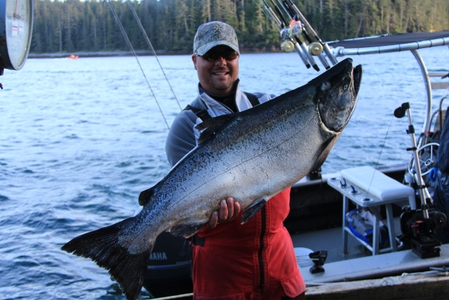 *Ken Mosley with a 37.5lb Tyee.