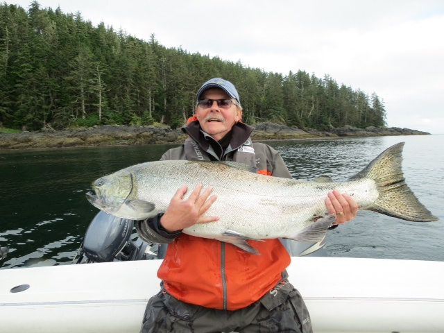 * One more for good measure of Rick Pike and his long Tyee.