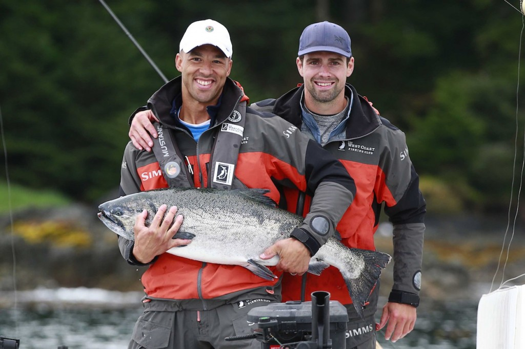 * Manny & Danny posing with a nice Chinook.