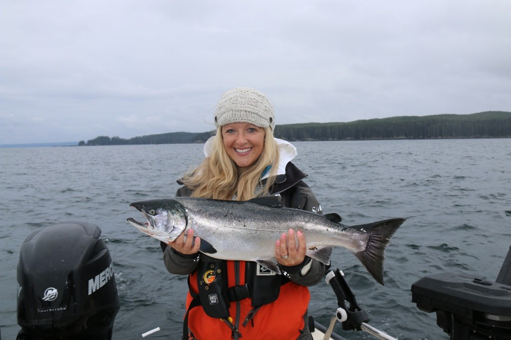 * Kristie Nyrose with a nice Coho.