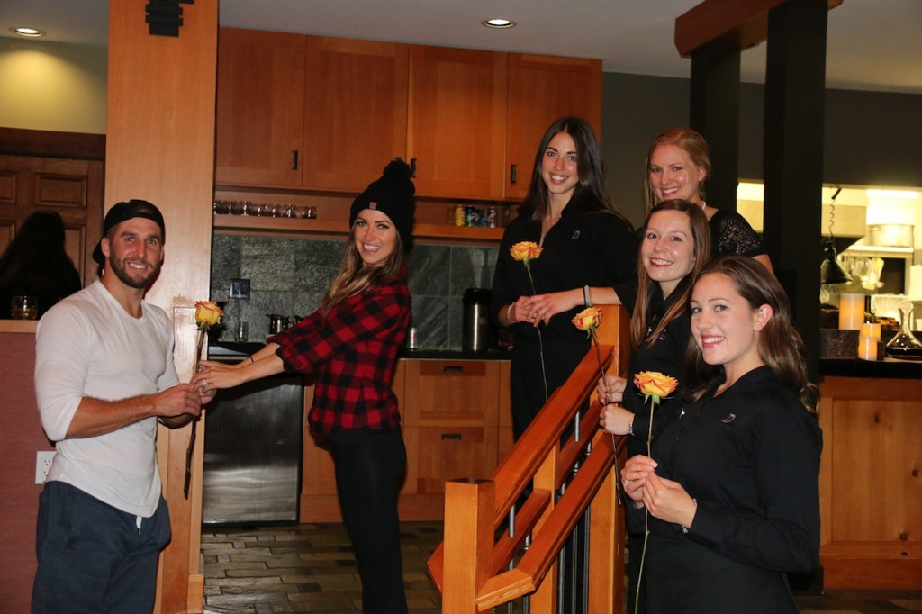 * Some of The Clubhouse staff have a rose ceremony of their own with Kaitlyn and Shawn.