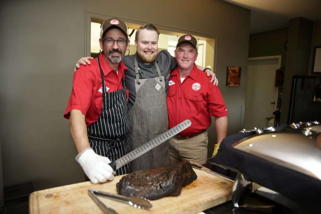 Chefs Tuffy Stone Jr., Shaun Snelling and Jeff Hayes