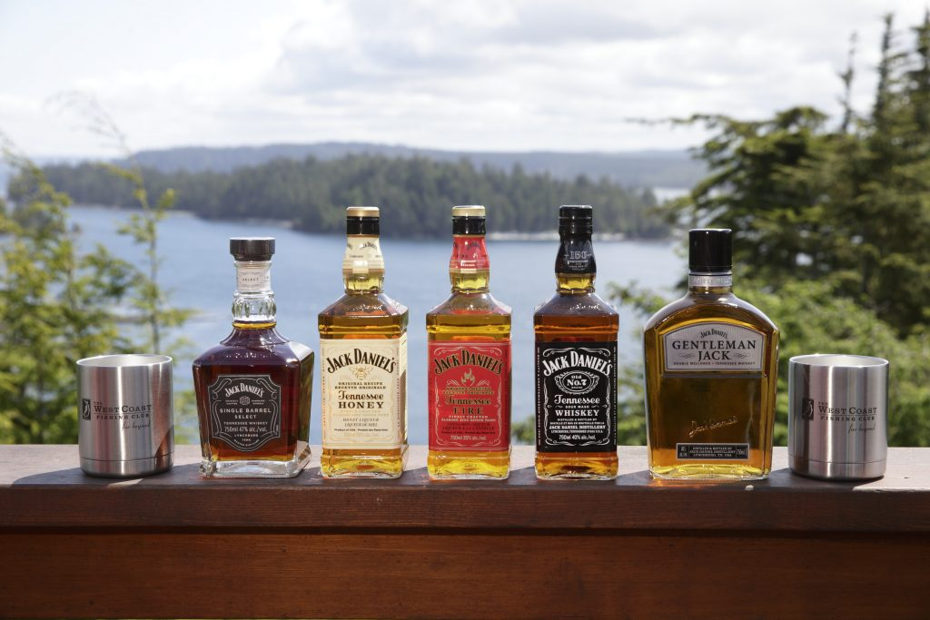 Full selection of spirits from Jack Daniels