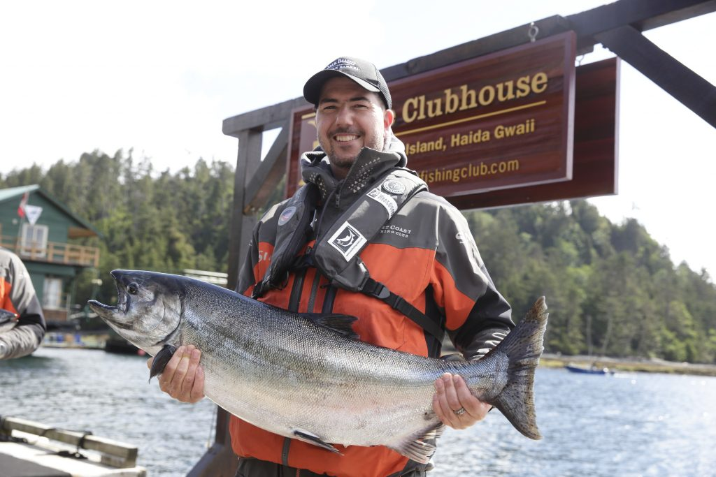 Jack Daniels Ambassador Gerry Jobe shows that he can make drinks and catch fish too!