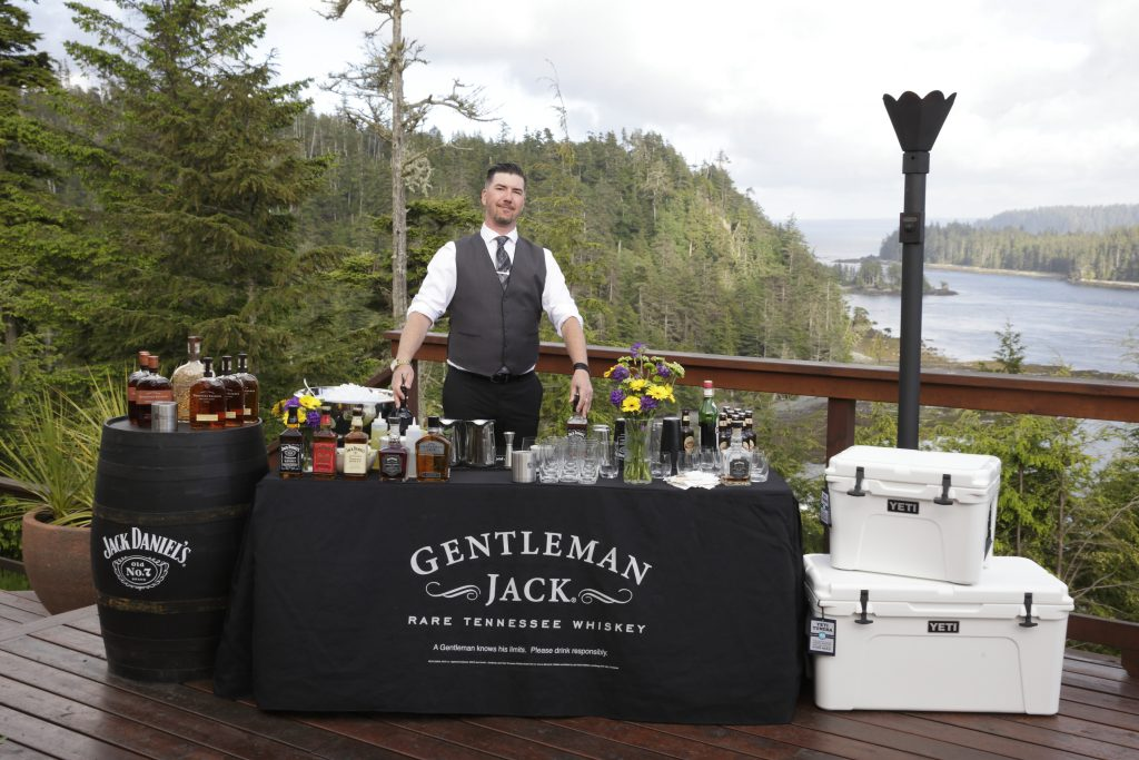 Jack Daniels Brand Ambassador Gerry Jobe ready to serve up some Bourbon