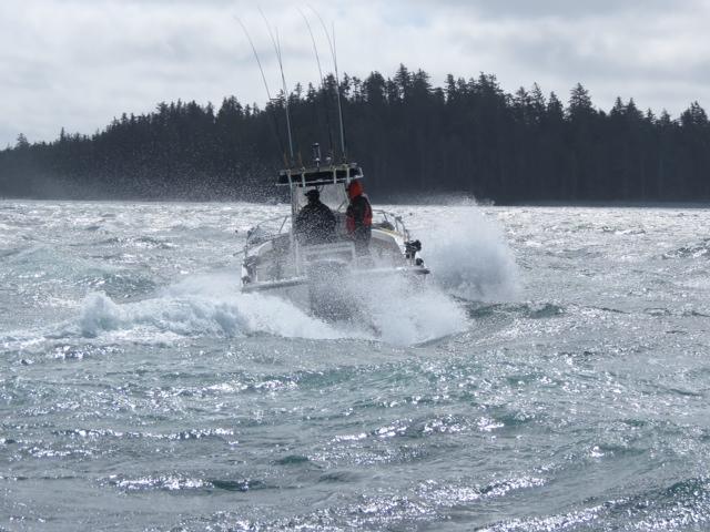 <em>* Korey Fletcher battling the southwest storm. </em>