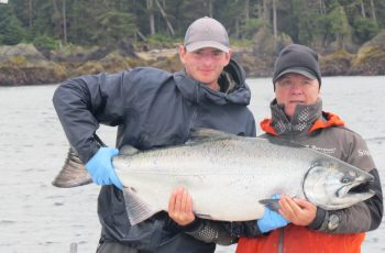 * 58lb Tyee for David Bickford and guide Brent Gallacher.