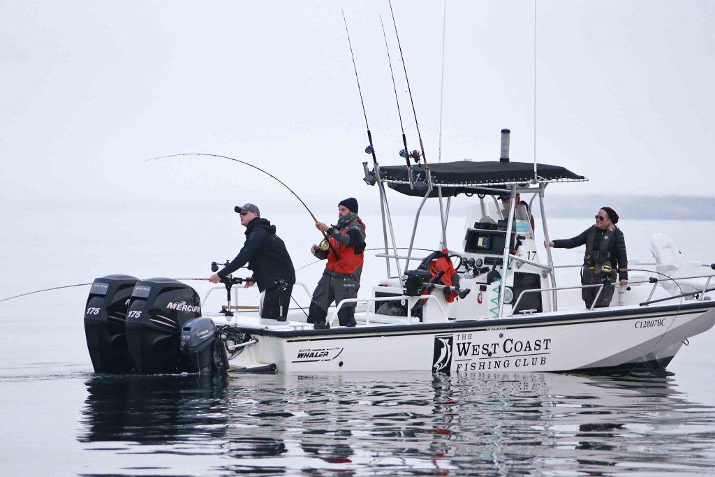 <em>* Fish on for Valentine Warner with guide Evan. </em>