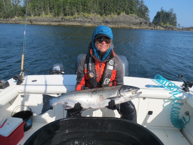 * 42 Inch, 33 lb Tyee released by Kellie.
