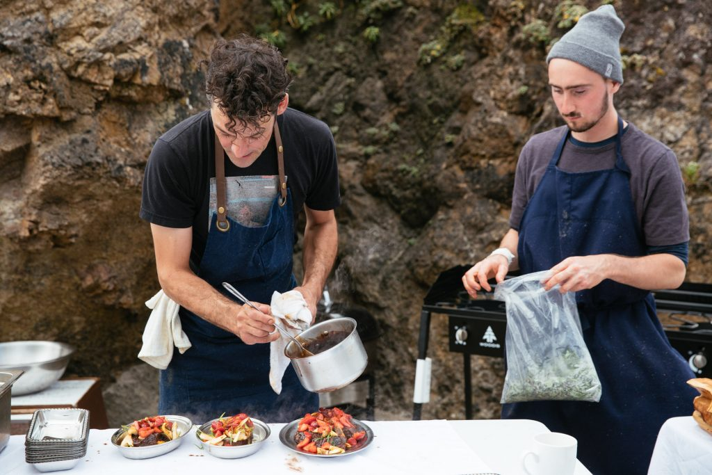 <em>* Chef Charles and Chef Simon working away. </em>