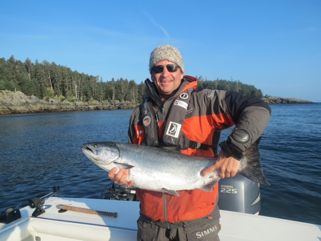 * Pat Elliot releasing a nice Chinook on the east side in gorgeous conditions.
