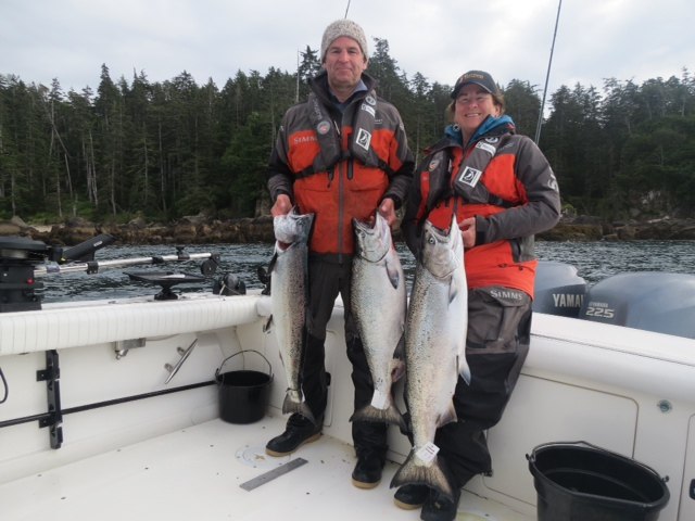 <em>* Pat and Kellie Elliott with perfect Chinook for take home BBQ season. </em>