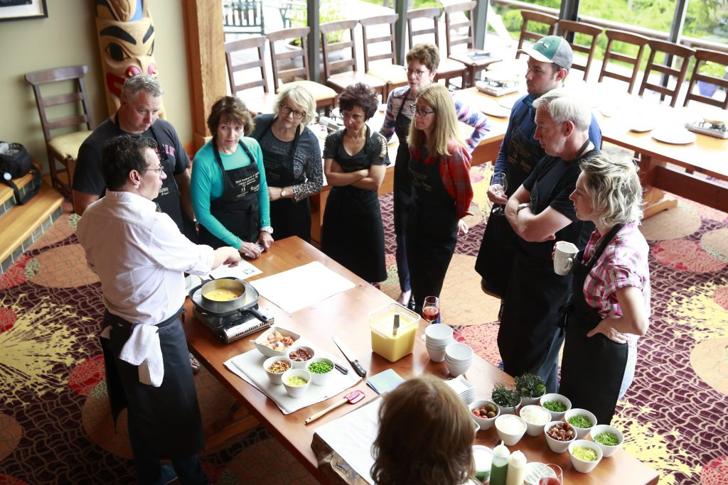 <em>* Chef Normand Laprise presenting to our eager guests. </em>