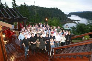 * All good things must come to an end as everyone assembles on the back deck overlooking stunning Parry Pass.