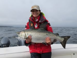* Dyane and our 25lb prize last day of the season.