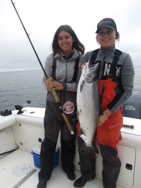 <em>* The Garske girls with Lauren's northern Coho. </em>