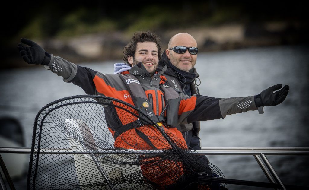 <em>*Christian and Paulo Aquilini enjoying some time together on the water.