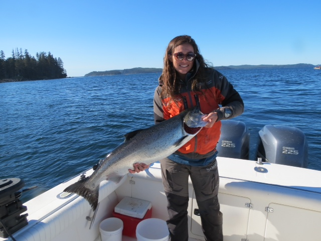 * Lauren Garske can catch them too as she shows off her catch on a perfect Haida Gwaii day.