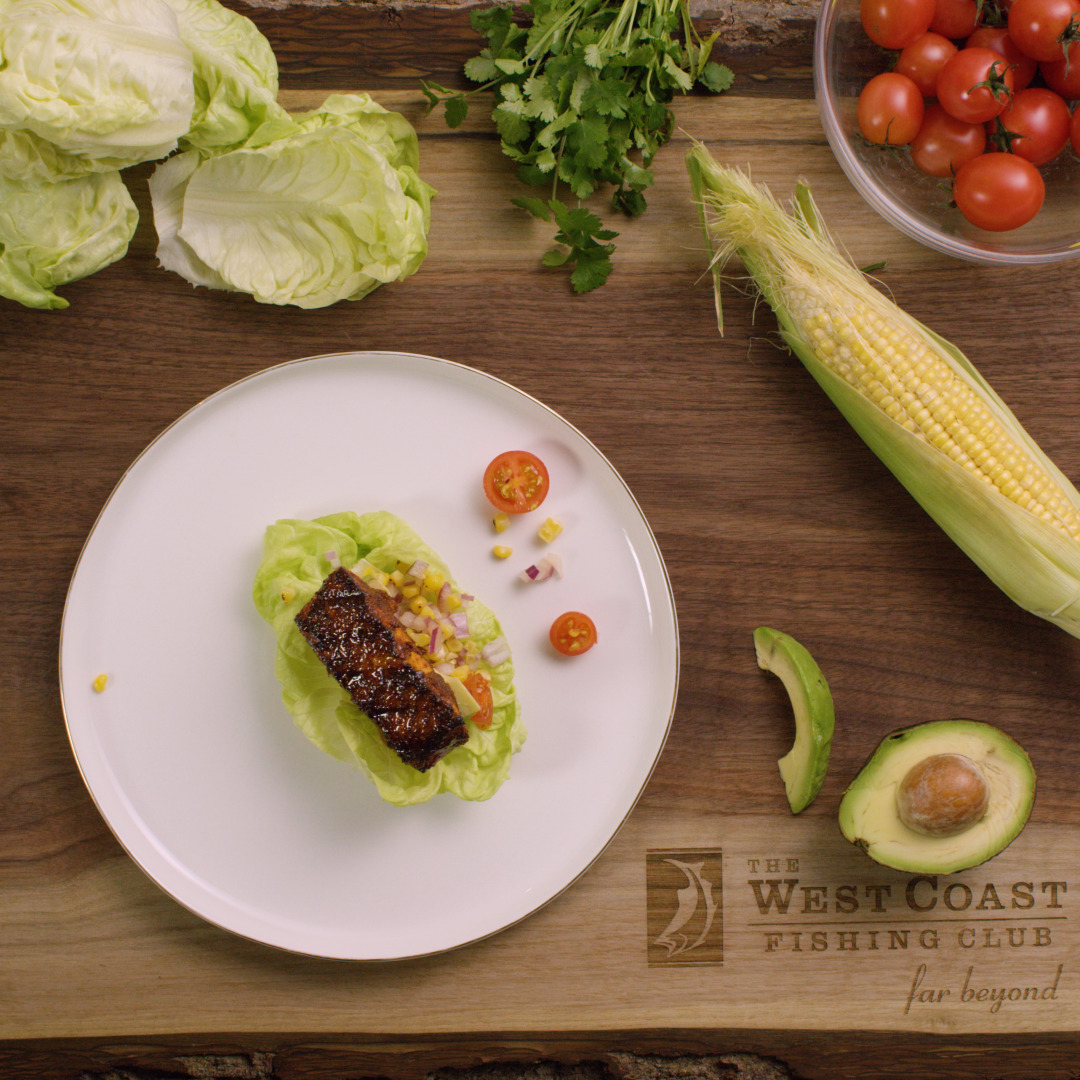 Charred Salmon Lettuce Wraps